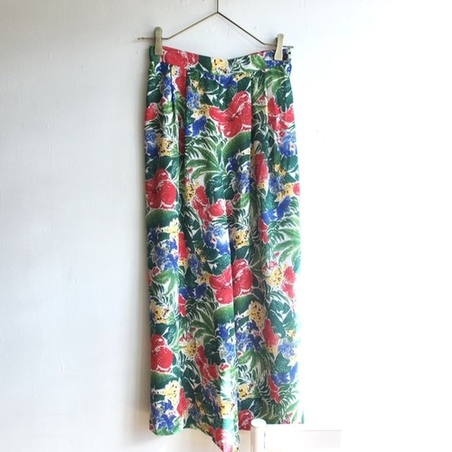 dead stock big flower wide pants