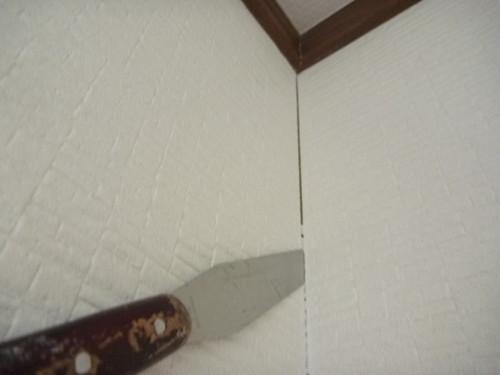 室内壁のすき間 メンテナンス工事