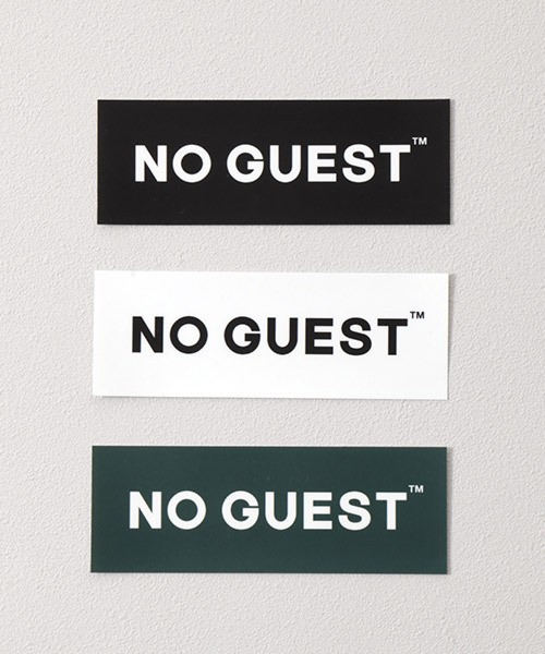 NO GUEST ステッカー3枚セット