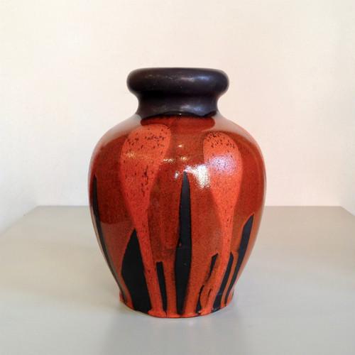 "Vintage W.Germany Pottery Vase ""STEULER"" 566-25 西ドイツ"