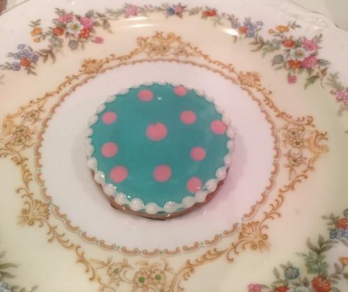 """cukr - """"dot circle cookie brooch (BLUE)"""""""