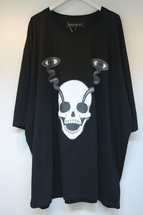 Daniel Palillo SKULL EYES PRINT T-SHIRT(OS) スカル アイ プリント Tシャツ / BLACK