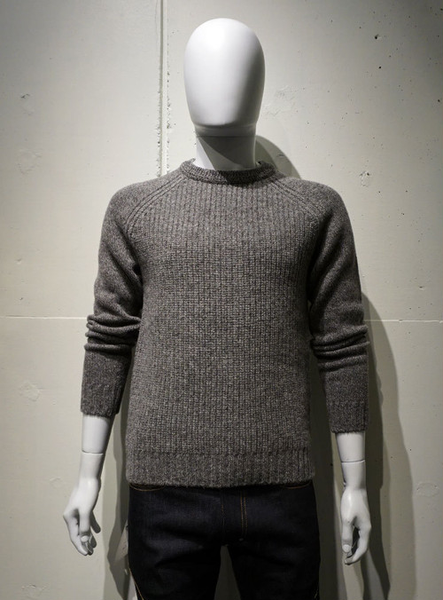 FUJITO Rib Knit Sweater グレイ