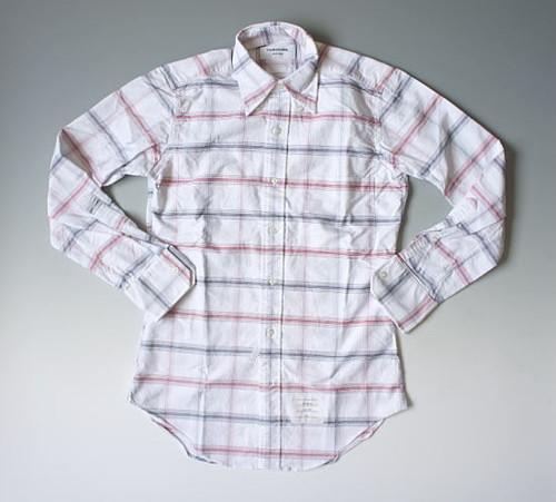 【訳アリ特価】THOM BROWNE.トム ブラウン チェック柄オックスフォードボタンダウンシャツ
