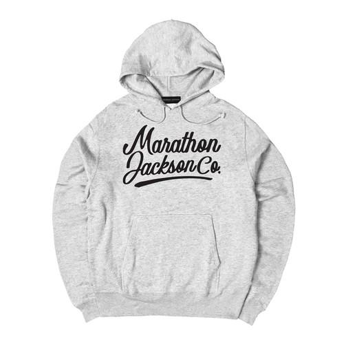 LOGO HOODIE M381509-GRAY / フード スウェット パーカー グレー MARATHON JACKSON マラソン ジャクソン