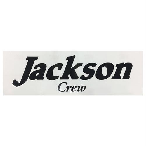 Jackson crewカッティングステッカー大 黒 400×130