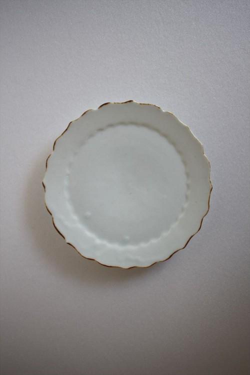 佐藤もも子|白瓷四寸輪花皿