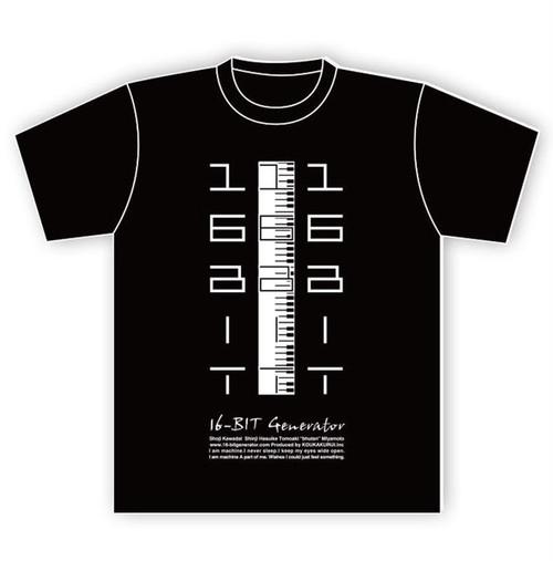 "16-BIT Generator Tシャツ ""06KENVAN-BW"""