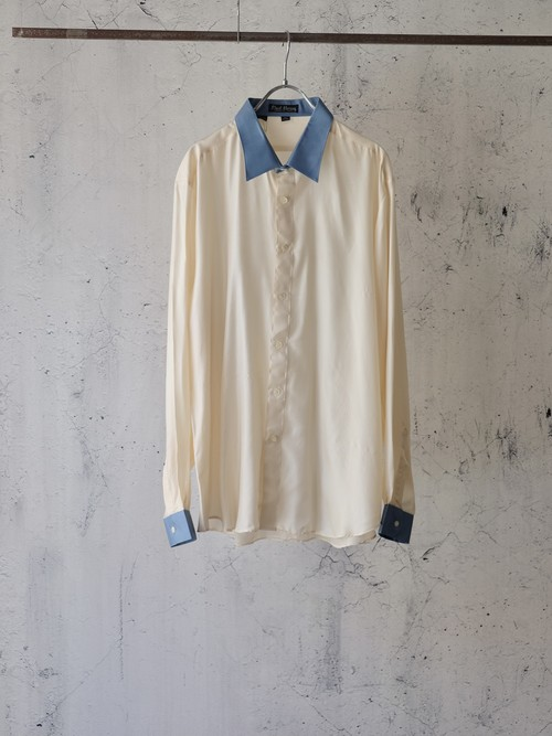 silky two tone shirt