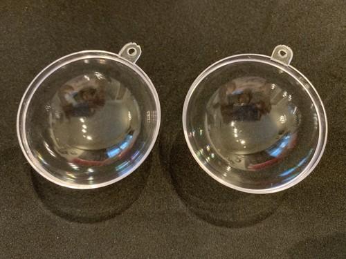 Clear ball 6cm   クリアプラモールド 半球2枚