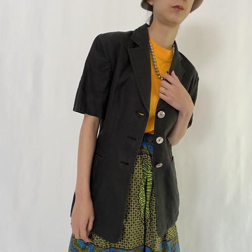 80's Christian Dior   linen half sleeve jacket