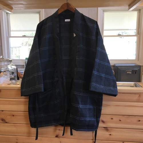"BLURHMS ""Worsted&Linen Check Kendo Jacket"""