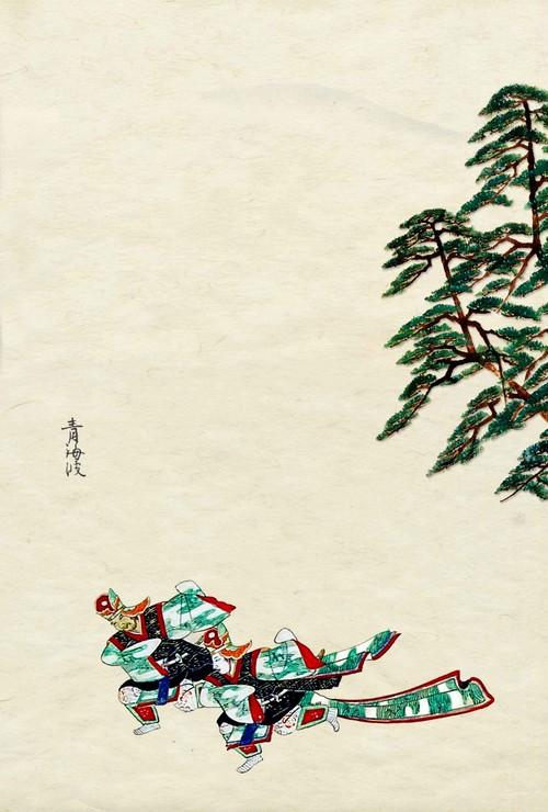 舞楽図鑑 夏 青海波    はがきサイズ