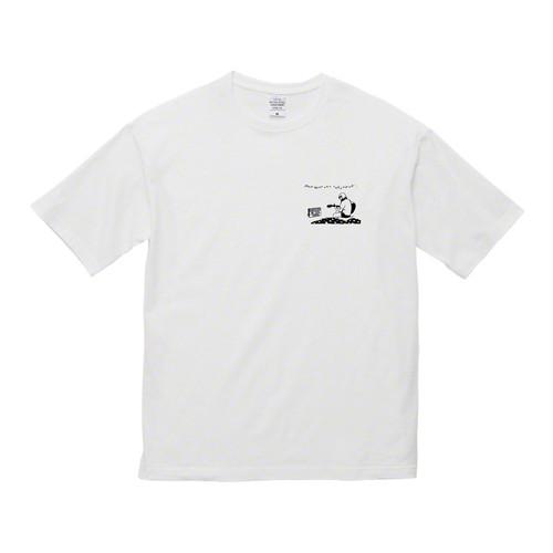【ビッグシルエットTシャツ・胸に1ポイントイラスト】