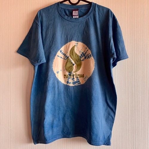15 ANV  OUTFLOW  x  KAYA  限定 藍染 T-shirt    / Indigo  blue      在庫追加 !!