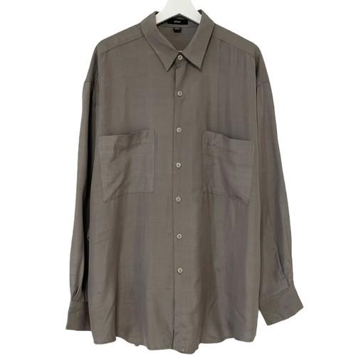Dead Stock 90's phiz Silk Shirt 【 TAUPE 】