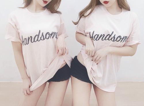 ハンサムな女のTシャツ 即納