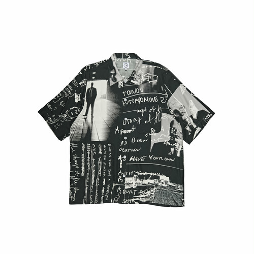 POLAR SKATE CO. ART SHIRT STRONGEST NOTES BLACK M ポーラー シャツ