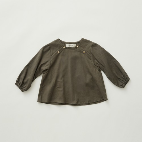 《eLfinFolk 2021AW》C/L washer  baby blouse / grayish khaki  / 80-100cm