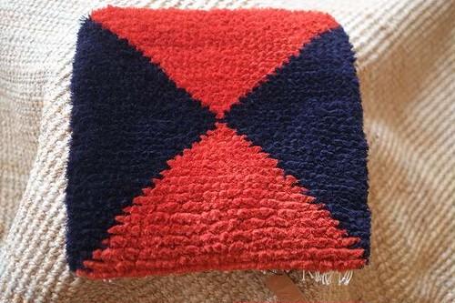 倉敷ノッティング・・・手織りの椅子敷き・・・
