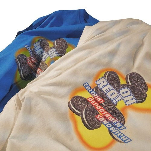 ★UNISEX オレオクッキーTシャツ(White,Blue) 49