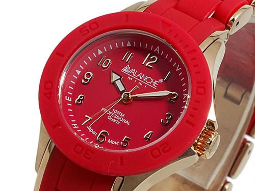 アバランチ AVALANCHE 腕時計 AV-1025-RDRG レッド×ローズゴールド ローズゴールド