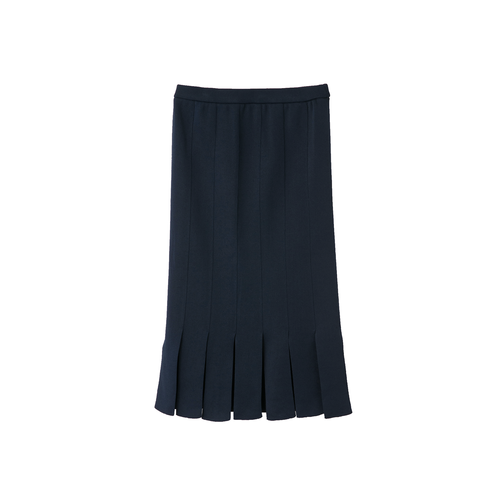 STRIPESS PATCHWORK SKIRT NAVY [TN18SS017]