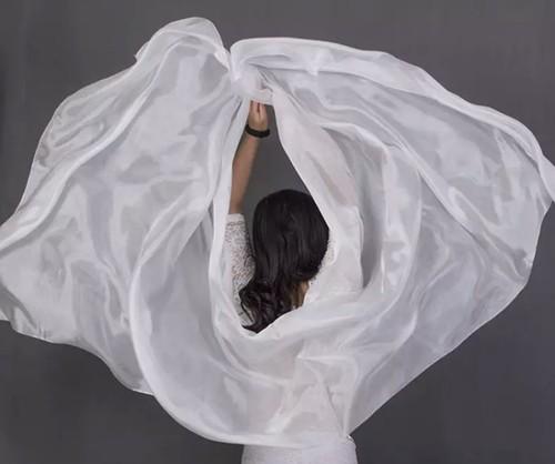 高品質格安ダンスベール女性のセクシーなシルク 100% ベール卸売