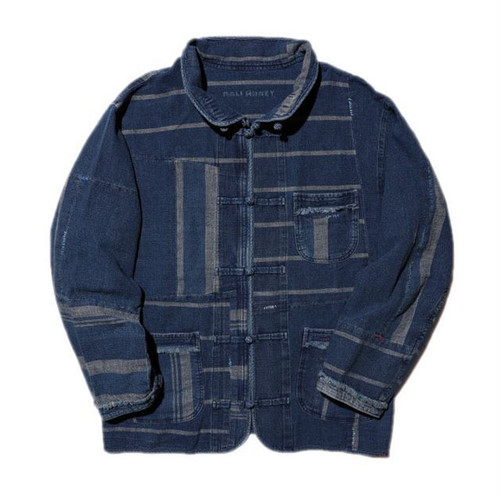 Porter Classic - AFRICAN COTTON CHINESE JACKET - BLUE [PC-033-1296]