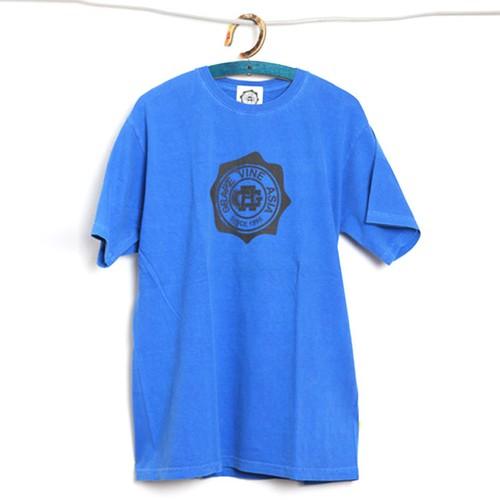 GrapevineAsia / STAMP (後染め) Tee / BLUE / M