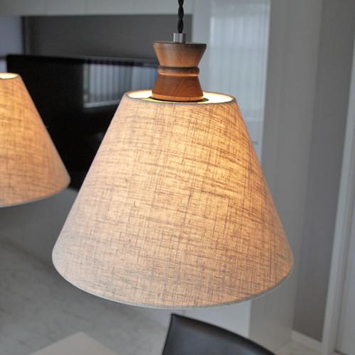 ペンダントライト ランプ 照明 Caridi(カリディ) ファブリック 布製 LED対応