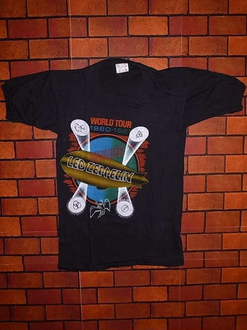 DEAD STOCK LED ZEPPELIN 1980-1981 WORLD TOUR T-SHIRTS