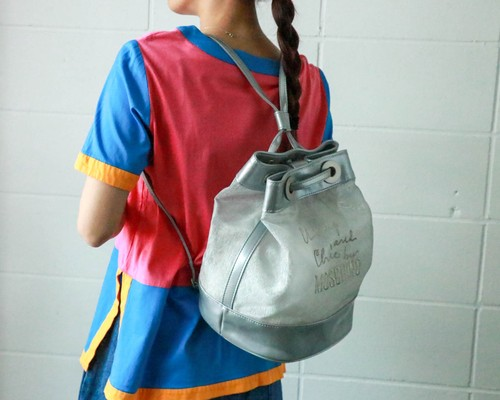 Moschino silver see through backpack(deadstock)