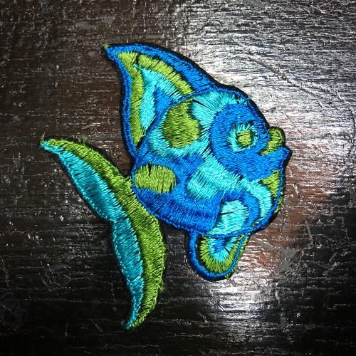 70's サイケデリック 熱帯魚 ワッペン ビンテージ ヒッピー ピーターマックス 魚