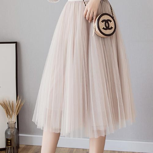 シフォンフレアスカート きれいめスカート