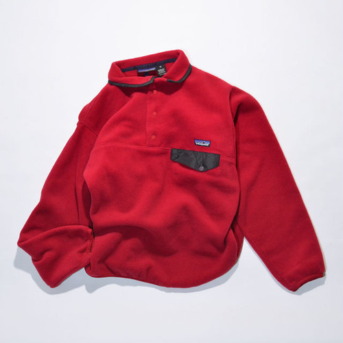 Used☆ 90's patagonia SYNCHILLA Snap-t(赤系)