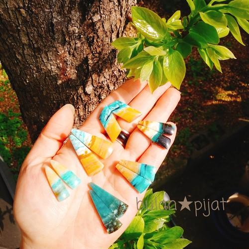2個セット 木の化石 ペトリファイドウッド 珪化木 ジェムシリカ クリソコラ コラウッド天然石 ブルーオパライズウッド ペアルース販売 オパールウッド ブルーオパール