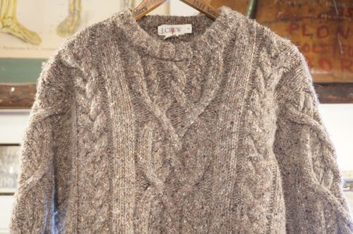 90's J.CREW ash cable knit Sweater