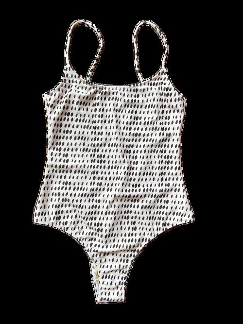 Onepiece swimwear -Dots of tears-