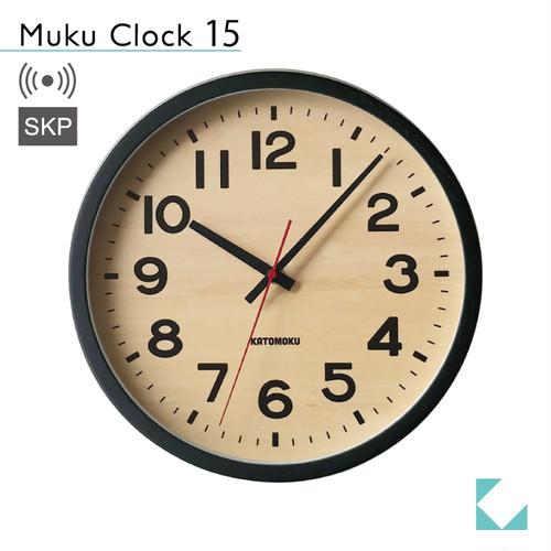 KATOMOKU muku clock 15 ブラック km-107BLRCS SKP電波時計