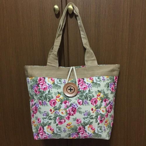 【花柄】トートバッグ Mサイズ