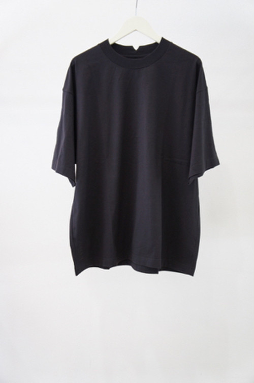 H/S Crew Loose EMB -CHARCOAL- / ANEI