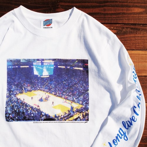 "【DARGO】""Golden State Warriors"" Long T-shirt (WHITE)"