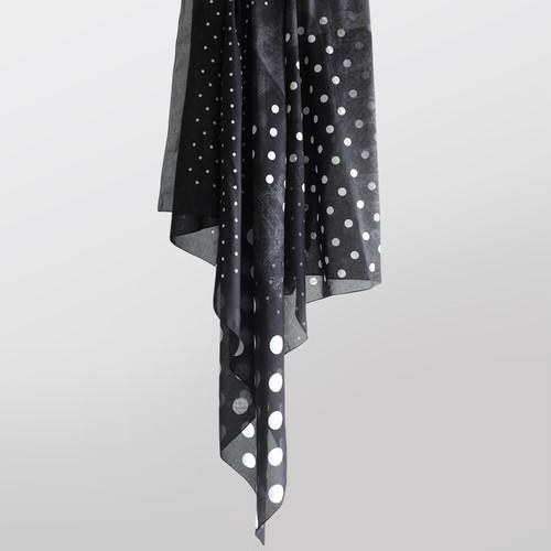 "KROFUNE コットンBIGスカーフ ""LUNARES STAR scarf"""