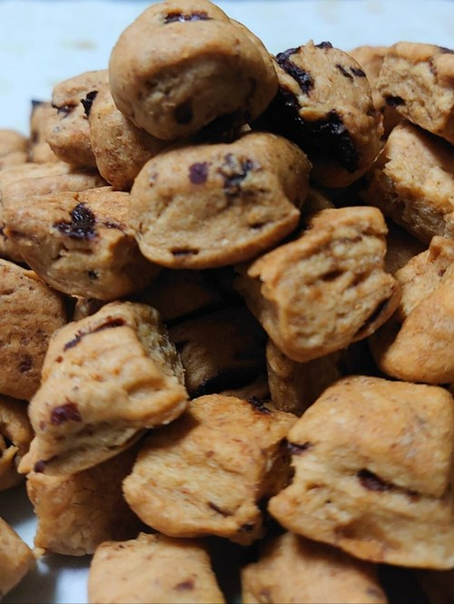 ◆天然糖不使用◆完全無添加・手作り・低GI・低グルテン・低糖・低塩  おからクッキー【自家製ラムレーズン】