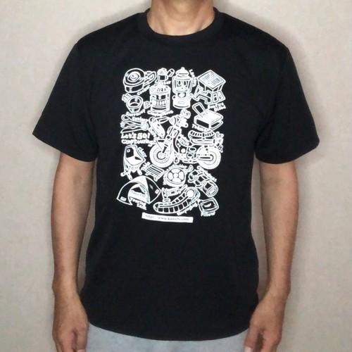 キャンプツーリングTシャツ・ブラック