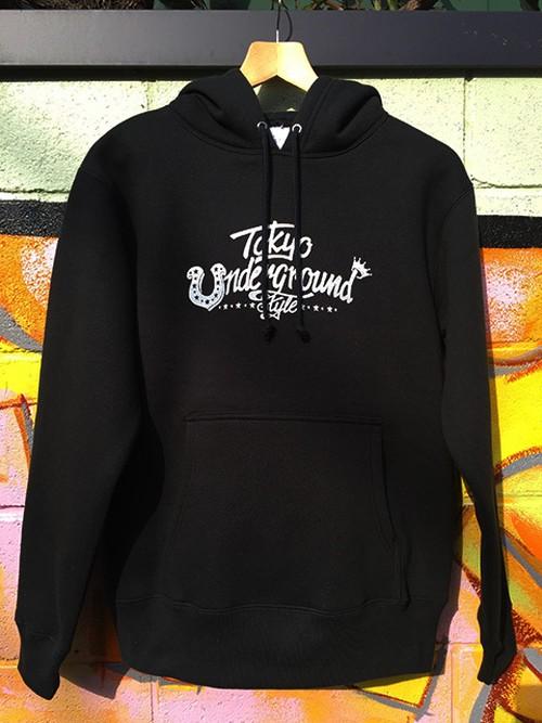 『Tokyo Underground Style』プルオーバー パーカ(ブラック)