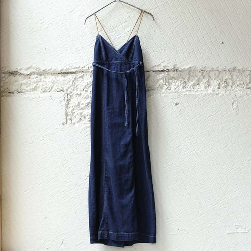 【nowos】DENIM CAMISOLE DRESS