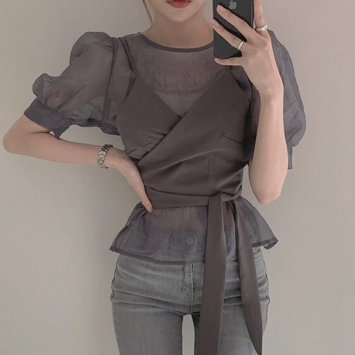 sheershirt camisole set up 3 color