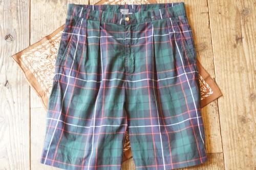 """70's Ralph Lauren tartan-check Shorts """"Made in U.S.A."""""""